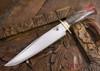 Jesse Hemphill Knives: Custom Bowie - Dyed Maple Burl - 80CrV2 Steel - 110705