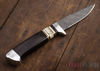 Alan Warren Knives: #2189 - Damascus Hunter - Blackwood - Bronze & Musk Ox Spacers