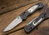 Benchmade Knives: 698-181 Foray - Gold Class - Damasteel - Marbled Carbon Fiber - Mother of Pearl
