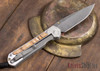 Chris Reeve Knives: Large Sebenza 21 - Spalted Beech - Ladder Damascus - 021608