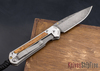 Chris Reeve Knives: Small Sebenza 21 - Thuya Burl - Chad Nichols Raindrop Damascus - 022101
