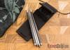 Spartan Blades: Chopsticks - Titanium & Carbon Fiber - Multicolor Green Anodized