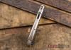 Todd Begg Knives: Custom Bodega - Fan Pattern Zirconium Inlay - Hand Satin Blade