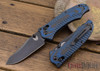 Benchmade Knives: 950BK-1801 Rift - Limited Edition - Carbon Fiber/Blue G-10