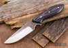 Carter Cutlery: #1358 Perfect Neck Knife - Black & Purple G-10 - Black Liners