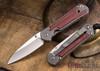 Chris Reeve Knives: Small Sebenza 21 - Red Linen Micarta Inlay - Insingo Grind