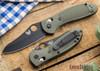 Benchmade Knives: 550BKHGOD Griptilian - Black Blade - OD Scales