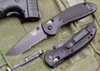 Benchmade Knives: 551SBK Griptilian - Modified Drop Point - Black Blade - Serrated