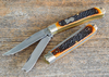 Queen City Cutlery: #19 Easy Open Trapper - Bone