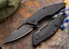 Brous Blades: Mini Division Flipper - Black G-10 - Acid Stonewash