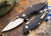 Brous Blades: Mini Division Flipper - Black G-10 - Satin Finish