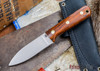 L.T. Wright Knives: Genesis - Desert Ironwood - Flat Ground - A2 Steel - #10
