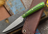 L.T. Wright Knives: Coyote - Green & Black G-10 - Flat Ground - D2 Steel