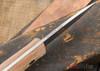 Bark River Knives: Aurora 3V - Maroon Linen Micarta