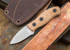 Fiddleback Forge: Production Runt - Natural Canvas Micarta - S35VN