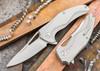 Brous Blades: Exo - Titanium Handles - Satin Finish