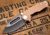 Medford Knife & Tool: Micro Praetorian G - Coyote G-10 / Flamed Ti - Tumbled Oxide Finish - 062911