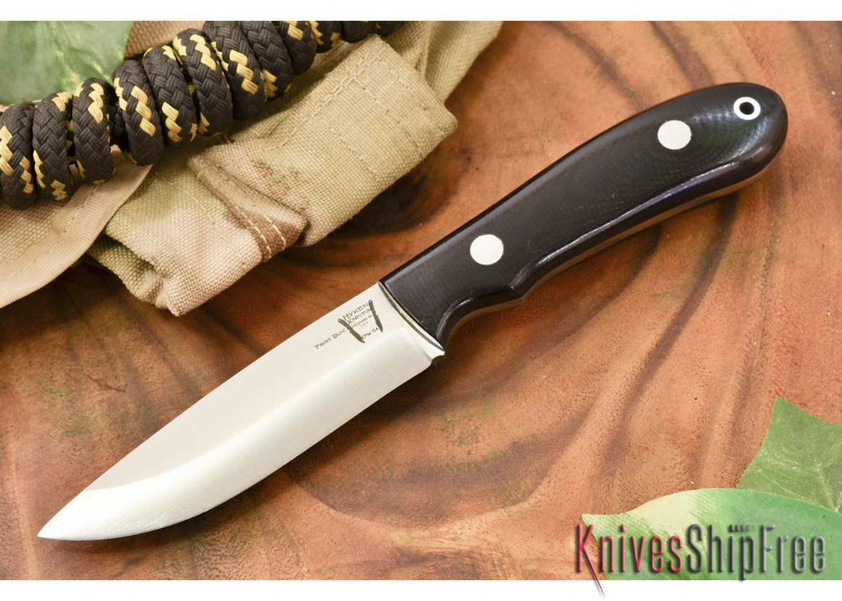 Hyken Knives: Bushcrafter CPM-154 - Black G-10 primary image