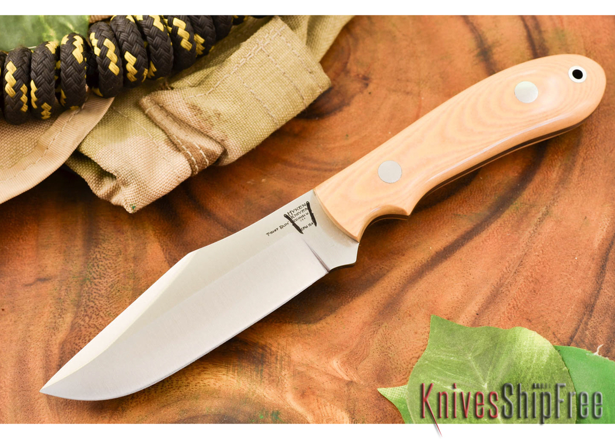Hyken Knives: Harpoon CPM-154 - Antique Ivory Micarta primary image
