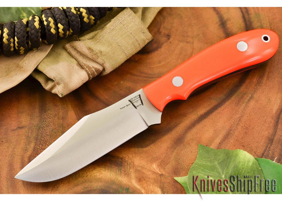 Hyken Knives: Harpoon CPM-154 - Blaze Orange G-10 - Black Liners primary image