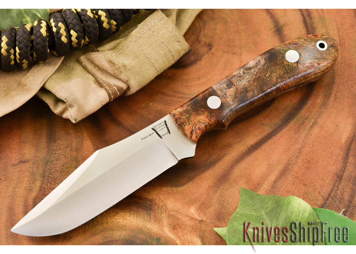Hyken Knives: Harpoon CPM-154 - California Buckeye Burl #2 primary image