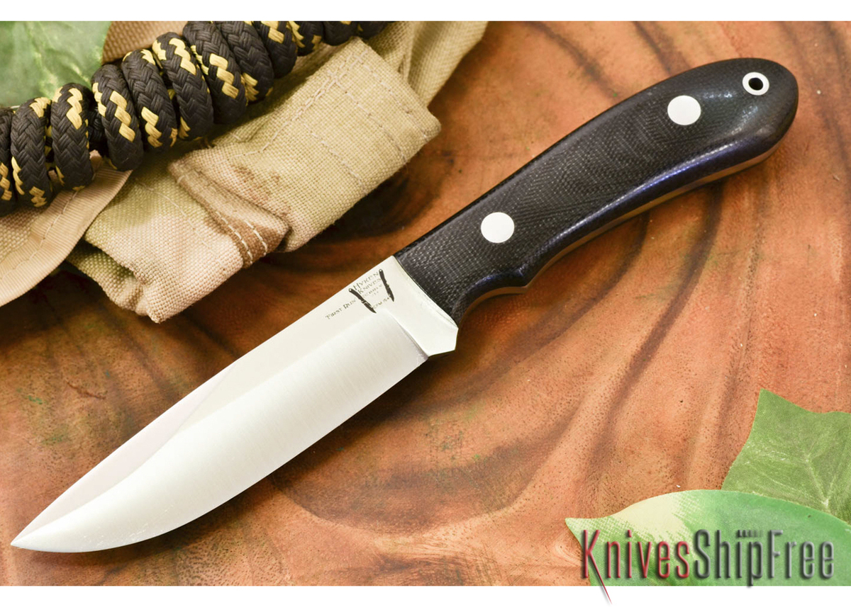 Hyken Knives: Lite Hunter CPM-154 - Black Canvas Micarta primary image