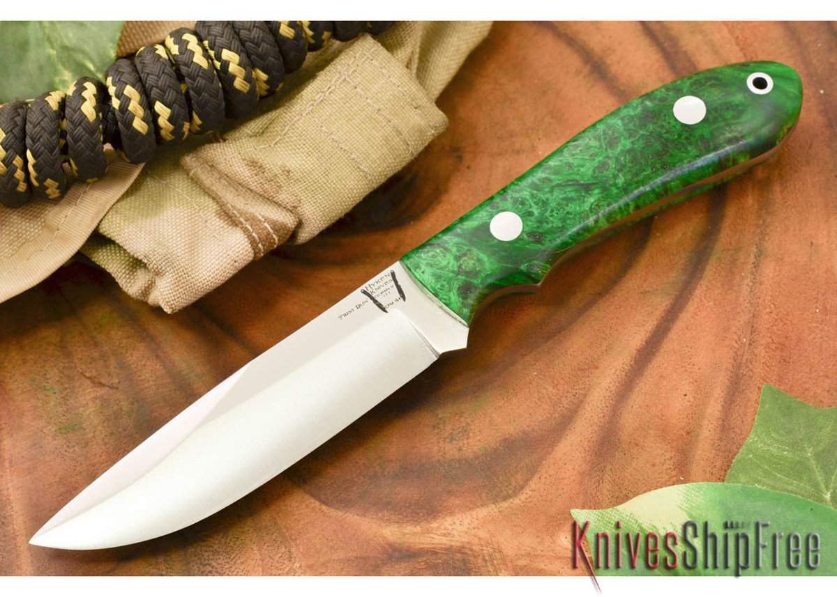 Hyken Knives: Lite Hunter CPM-154 - Green & Gold Elder Burl #1 primary image