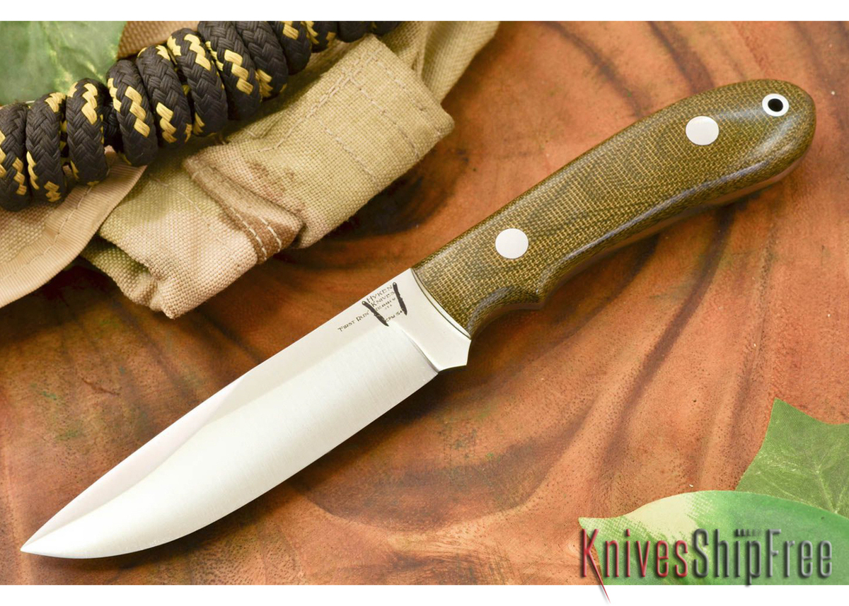 Hyken Knives: Lite Hunter CPM-154 - Green Canvas Micarta primary image