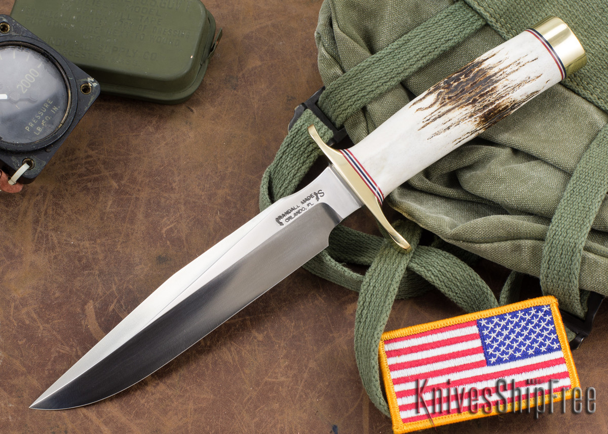 Randall Made Knives: Model 1-7 All Purpose Fighting Knife - Stag - Stainless Steel #1 primary image
