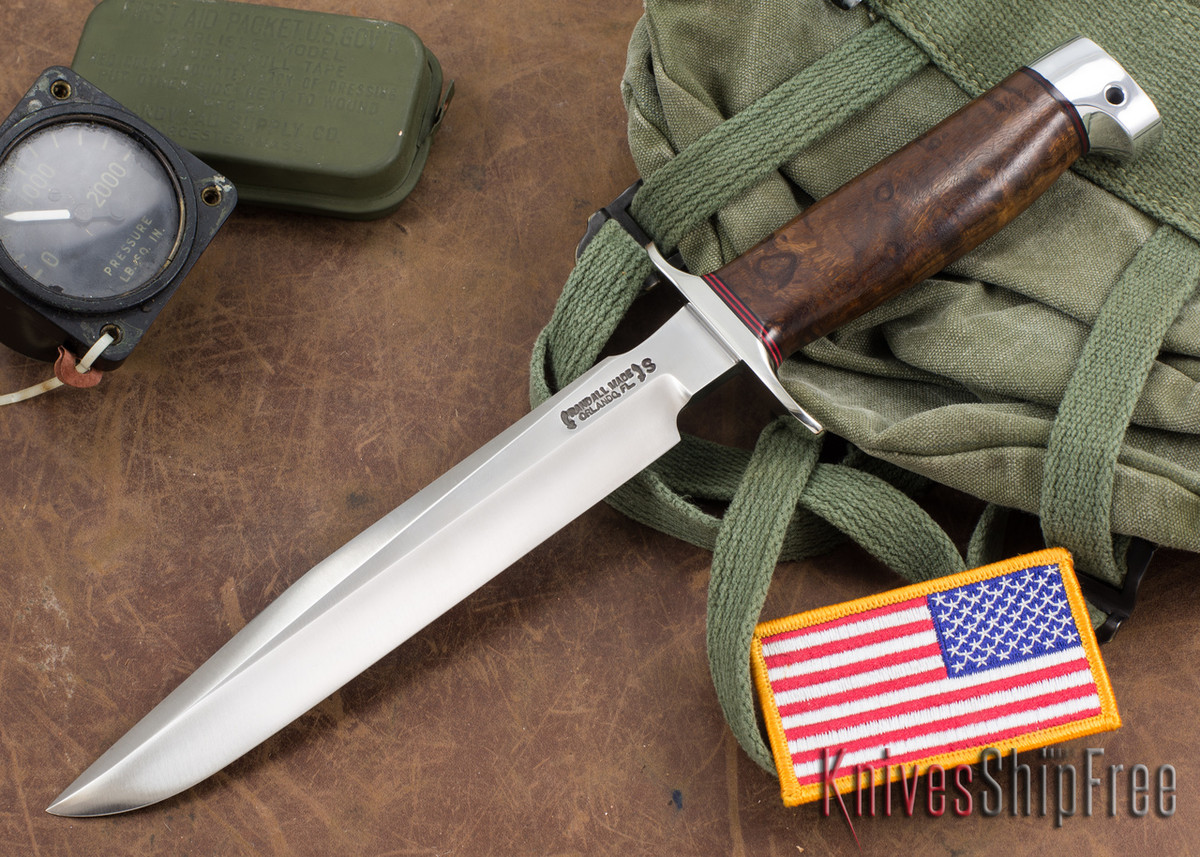 Randall Made Knives: Model 1-8 All Purpose Fighting Knife - Walnut Burl - Stainless Steel primary image