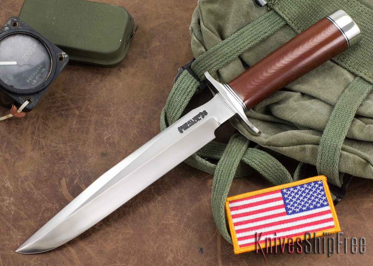 Randall Made Knives: Model 1-8 All Purpose Fighting Knife - Brown Micarta - Stainless Steel primary image