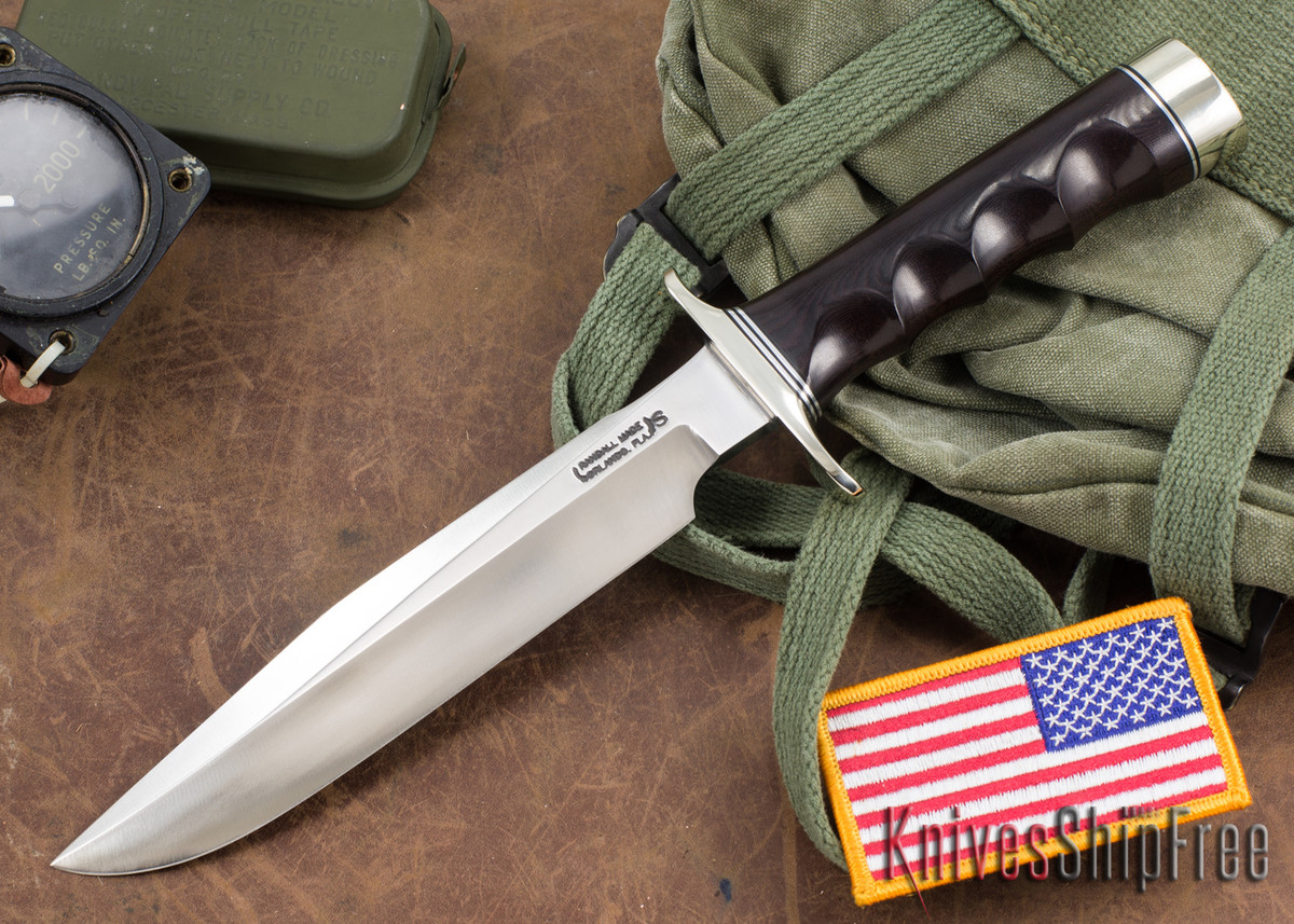 Randall Made Knives: Model 1-7 All Purpose Fighting Knife - Maroon Micarta - Stainless Steel primary image