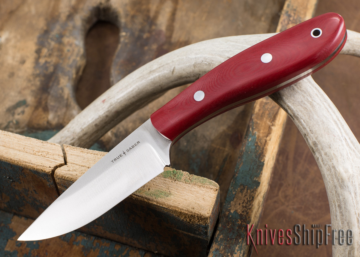 True Saber Knives: Shawnee - Red Linen Micarta primary image