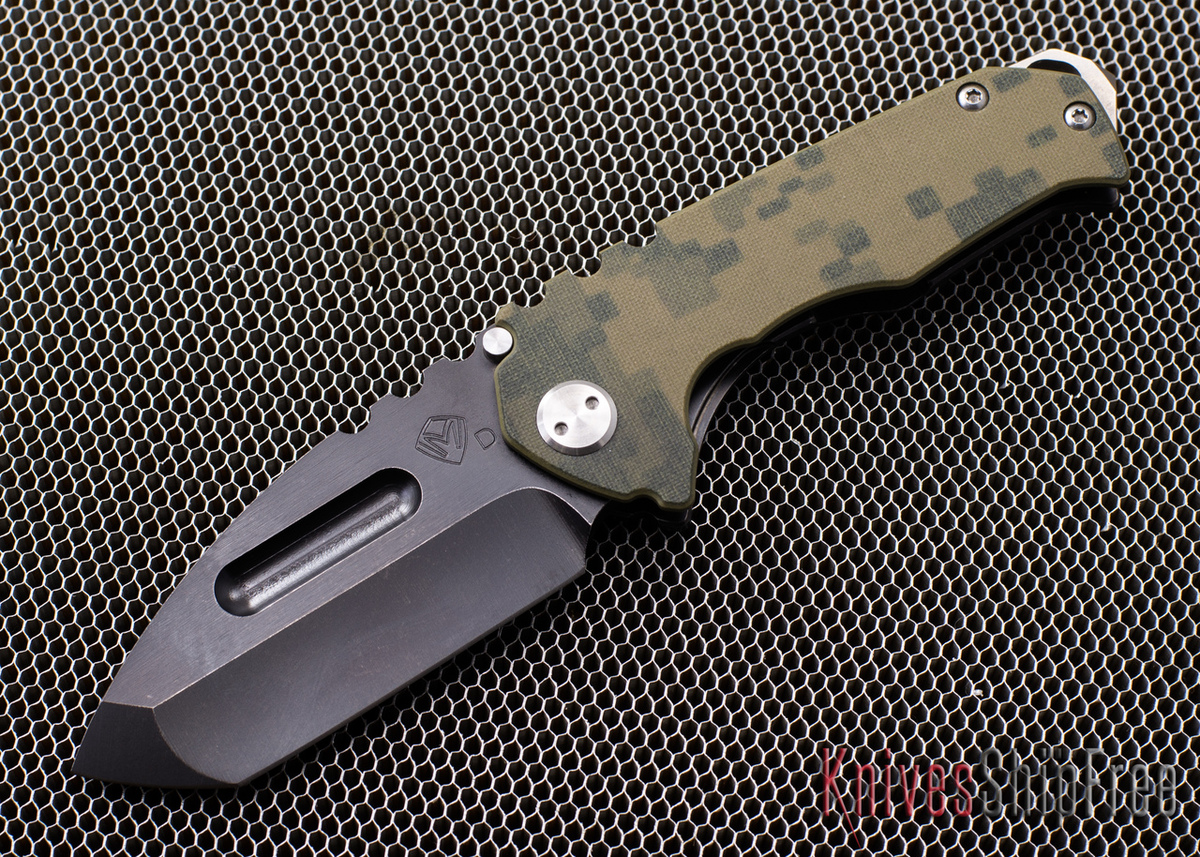 Medford Knife & Tool: Praetorian Genesis G - Digi Camo G-10 and Tumbled PVD Titanium - Tanto primary image