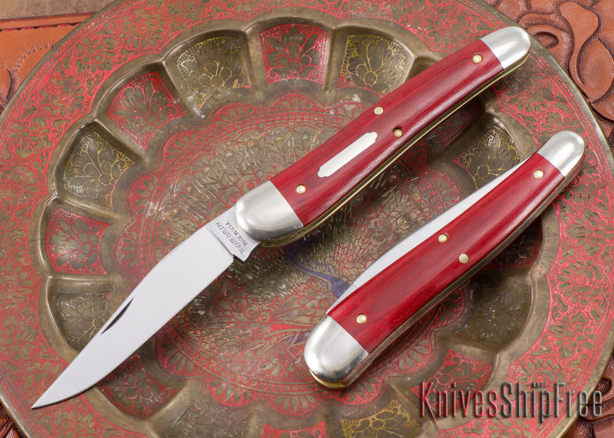 Great Eastern Cutlery: #38 Special - Red Linen Micarta primary image
