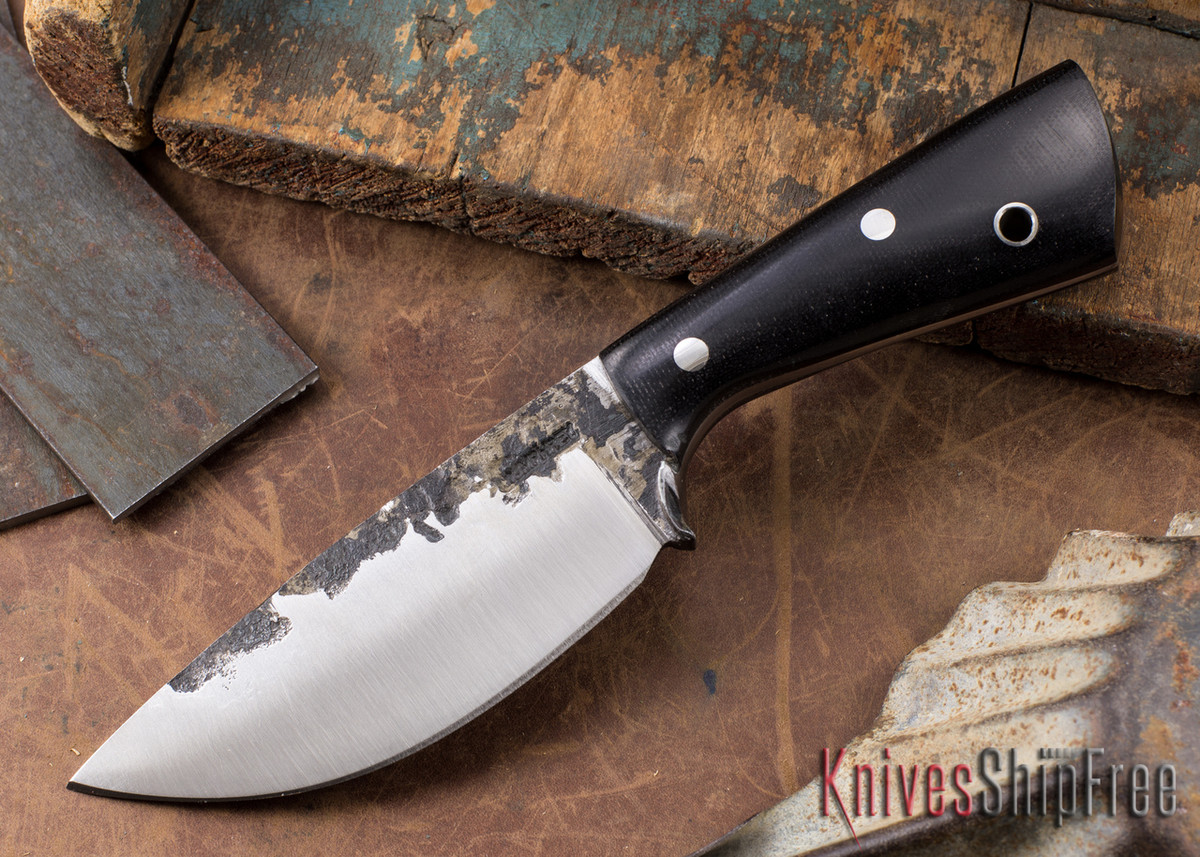 Lon Humphrey Knives: Custom Brute - Black Canvas Micarta - Drop Point #1 primary image