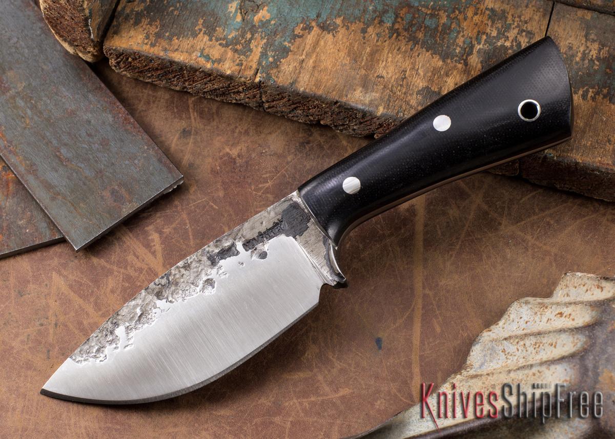 Lon Humphrey Knives: Custom Brute - Black Canvas Micarta - Drop Point #2 primary image