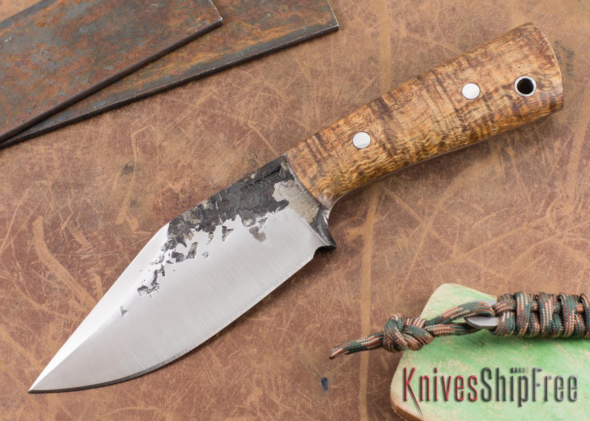 Lon Humphrey Knives: Custom Brute - Curly Koa - Clip Point #8 primary image
