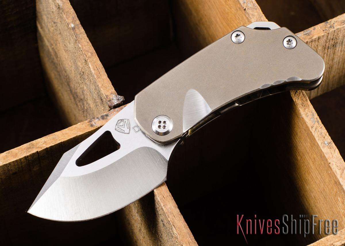 Medford Knife & Tool: Eris - Bronze Anodized Titanium - Tumbled D2 Steel primary image