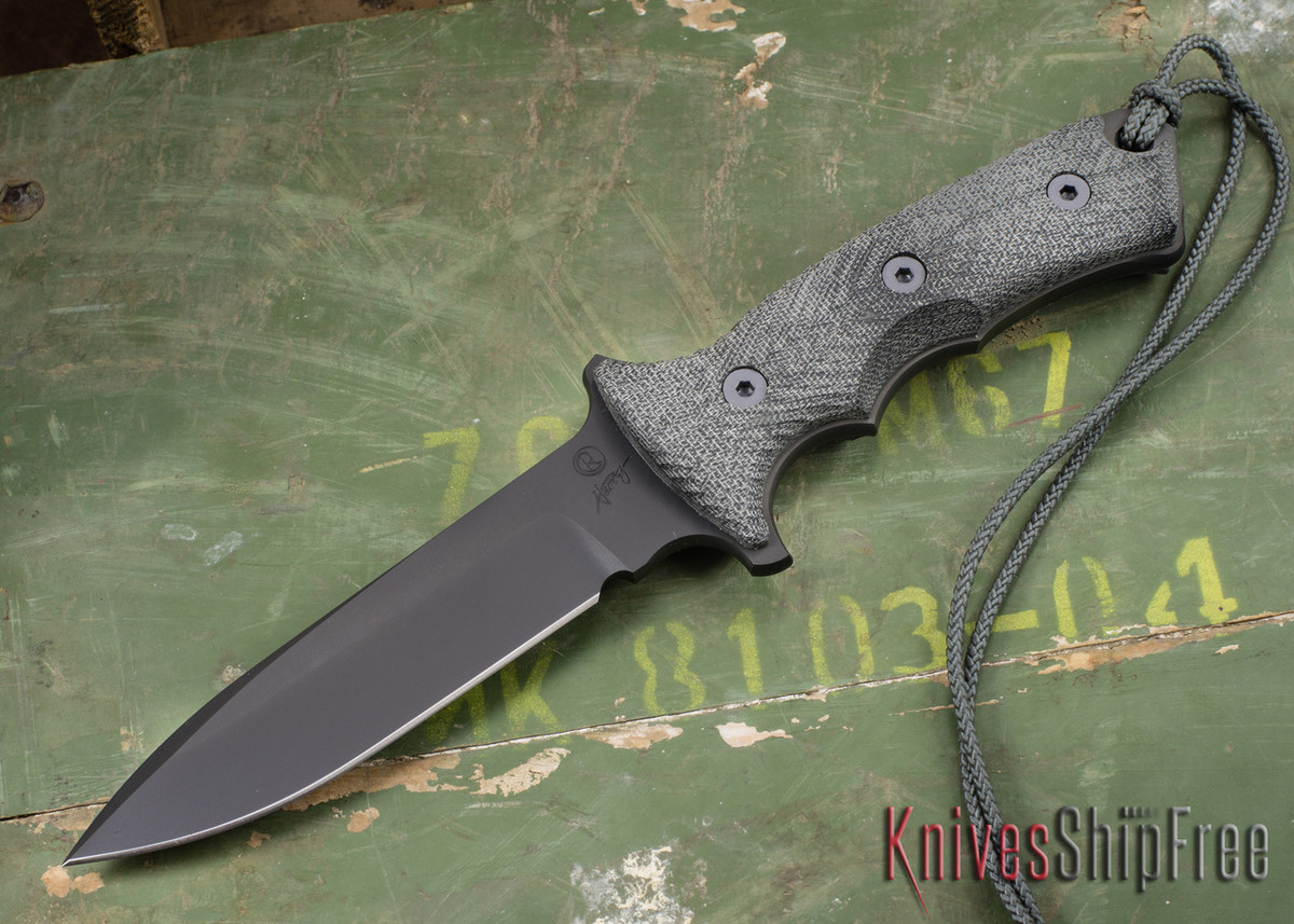 "Chris Reeve Knives: Green Beret - 5.5"" - Black PVD - Plain Edge primary image"