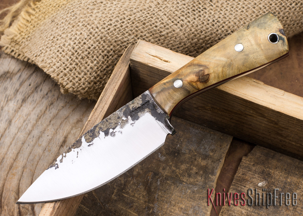 Lon Humphrey Knives: Custom Brute - Buckeye Burl - Red Liners - Spearpoint - 02 primary image