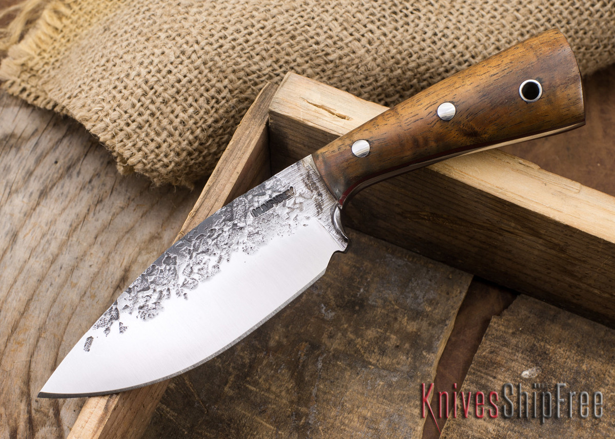 Lon Humphrey Knives: Custom Brute - Curly Koa - Red Liners - Drop Point - 21 primary image