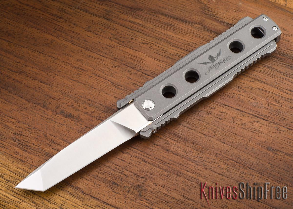 Jesse James Knife Company: Nomad - Titanium - Stonewashed - Tanto primary image