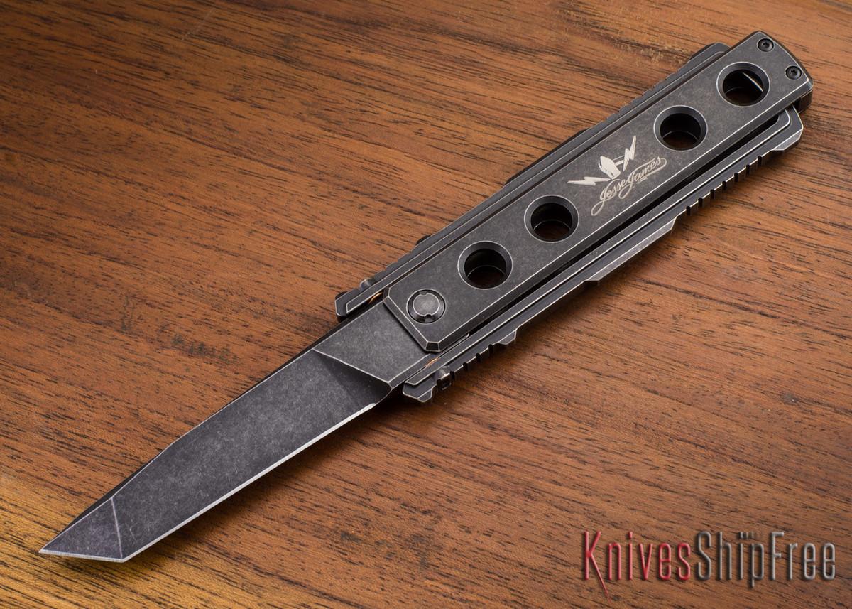 Jesse James Knife Company: Nomad - Titanium - Black Stonewashed - Tanto primary image