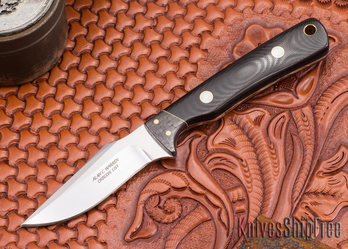Alan Warren Knives: Harpoon - Black G-10 - Carbon Fiber primary image