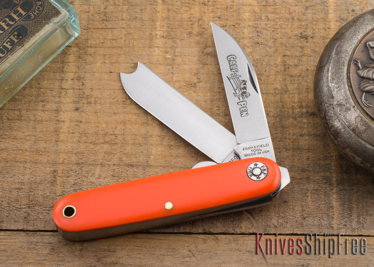 Great Eastern Cutlery: #35 Farm & Field - Calf Pen Jack - Orange Delrin primary image