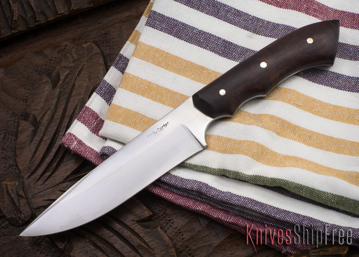 Carter Cutlery: #1124 Muteki Compact FS1 - Ironwood - Black & Phenolic Liners primary image