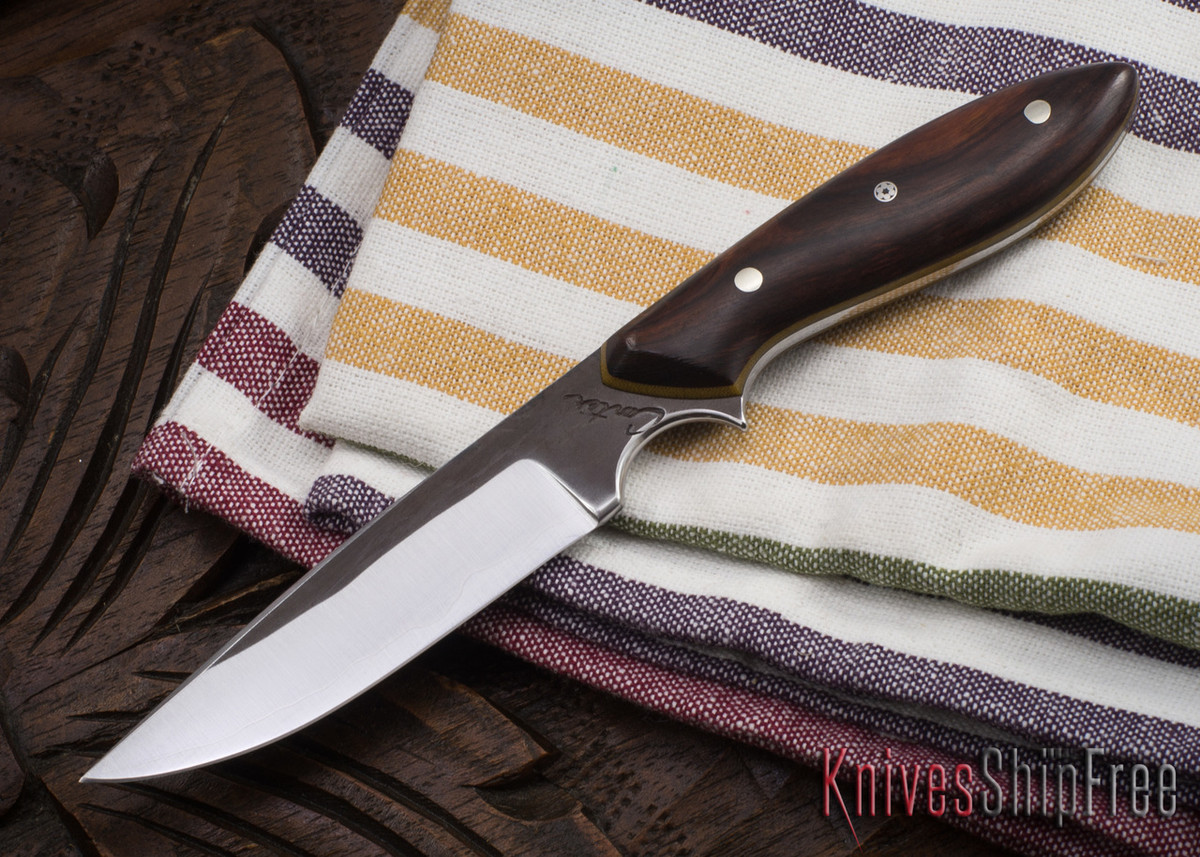 Carter Cutlery: #1148 Clip Point Original - Ironwood - Natural Canvas Liners primary image