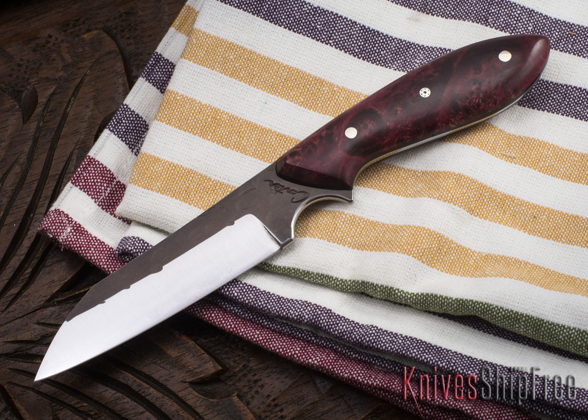 Carter Cutlery: #1145 Wharncliffe Brute - Dyed Elder Burl - Black Liners primary image