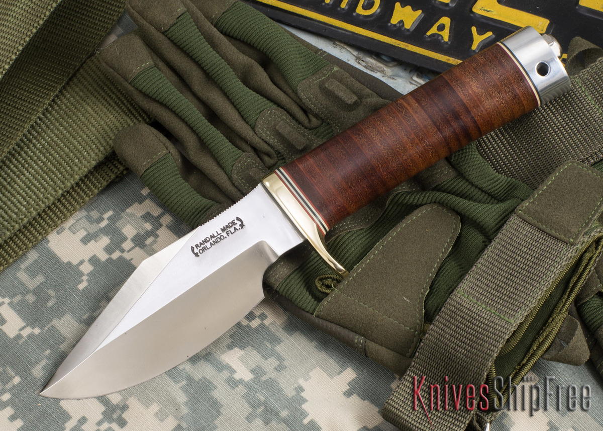 Randall Made Knives: Model 19-4 Bushmaster - Stacked Leather - 101109 primary image
